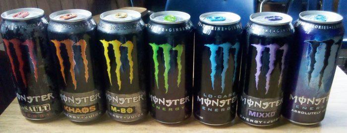 Monster og energi drikke